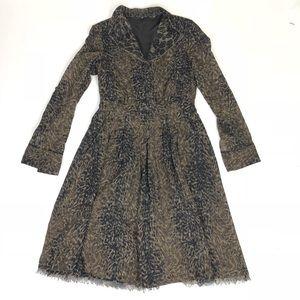 Elie Tahari Leopard animal print fit & flare dress